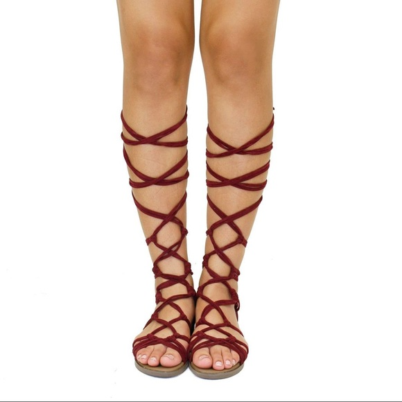Breckelles Shoes | Wine Colored Tie Up